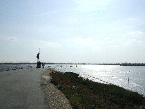 Statue of Byrhtnoth at Maldon