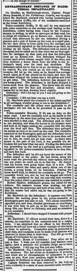 Trial of Captain Somerset in Reynolds Newspaper 18 May 1851