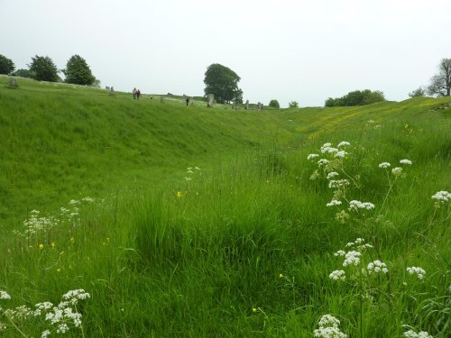 Avebury - the ditch and stones