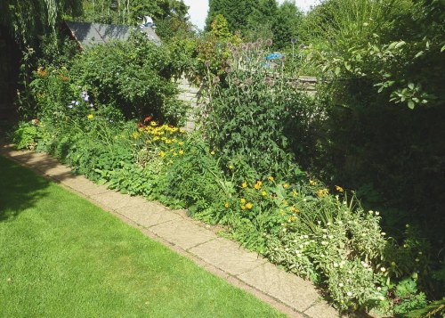The main border - lots of yellow and orange.