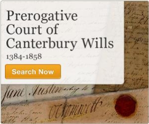 Announcement of PCC wills on Ancestry website
