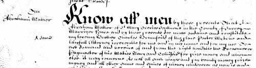 Start of Abraham's will. Mather or Malher?