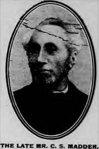 Picture of Charles Samuel Madder from the Bucks Herald 27 Nov 1909