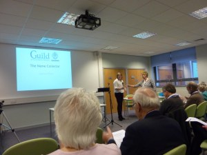 Jo is introduced by Chairman Kirsty Gray, who also gave two of the talks