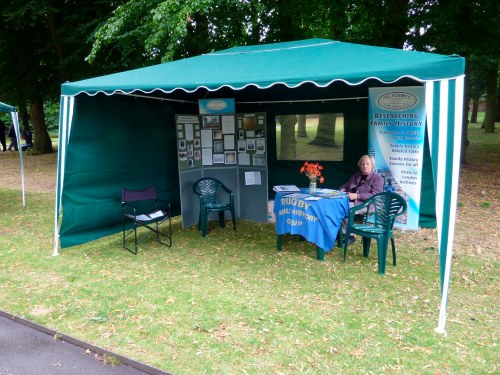 WW1 display set up in Caldecott Park