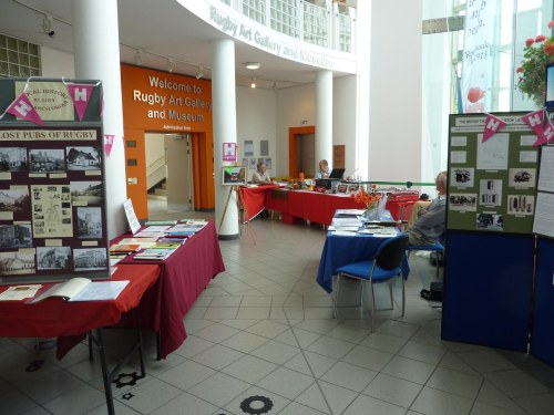 Rugby Library Foyer - Local History to the left, Family History to the right (we won't mention Transport History at the end)