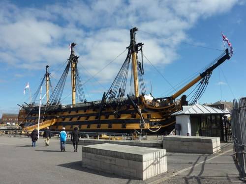 Lovely weather to visit  HMS Victory