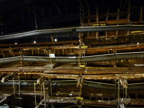 Wreak of the Mary Rose. Decks drying out.