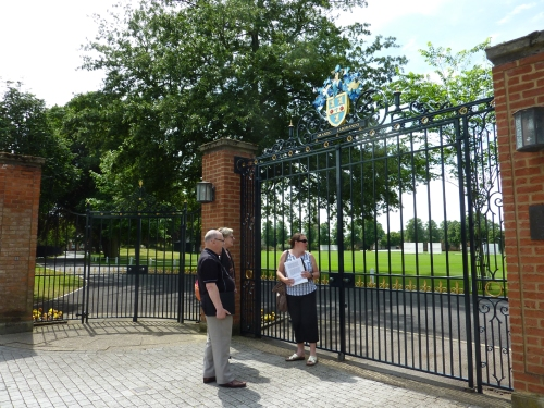 Trainee guides practice at Queens Gates (opened by The Queen in 1967)
